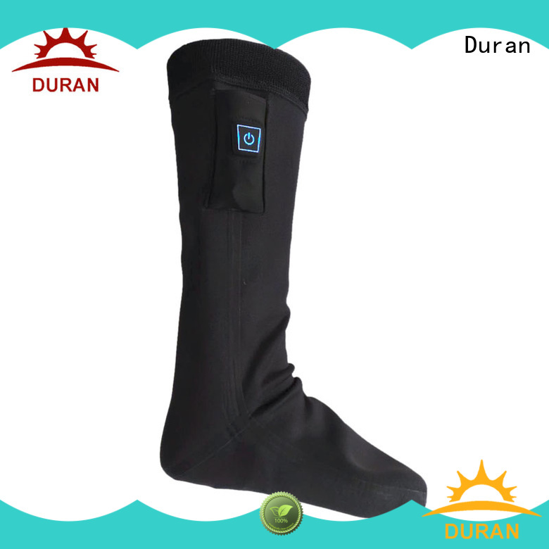 Duran battery operated heated socks factory for sports