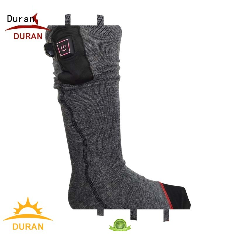 Duran professinal battery powered heated socks supplier for sports