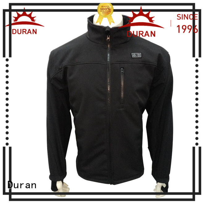 Duran durable electric heated jacket supplier for cold weather