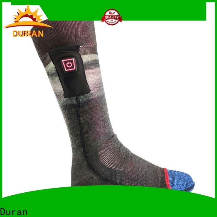 Duran battery powered heated socks supplier for sports